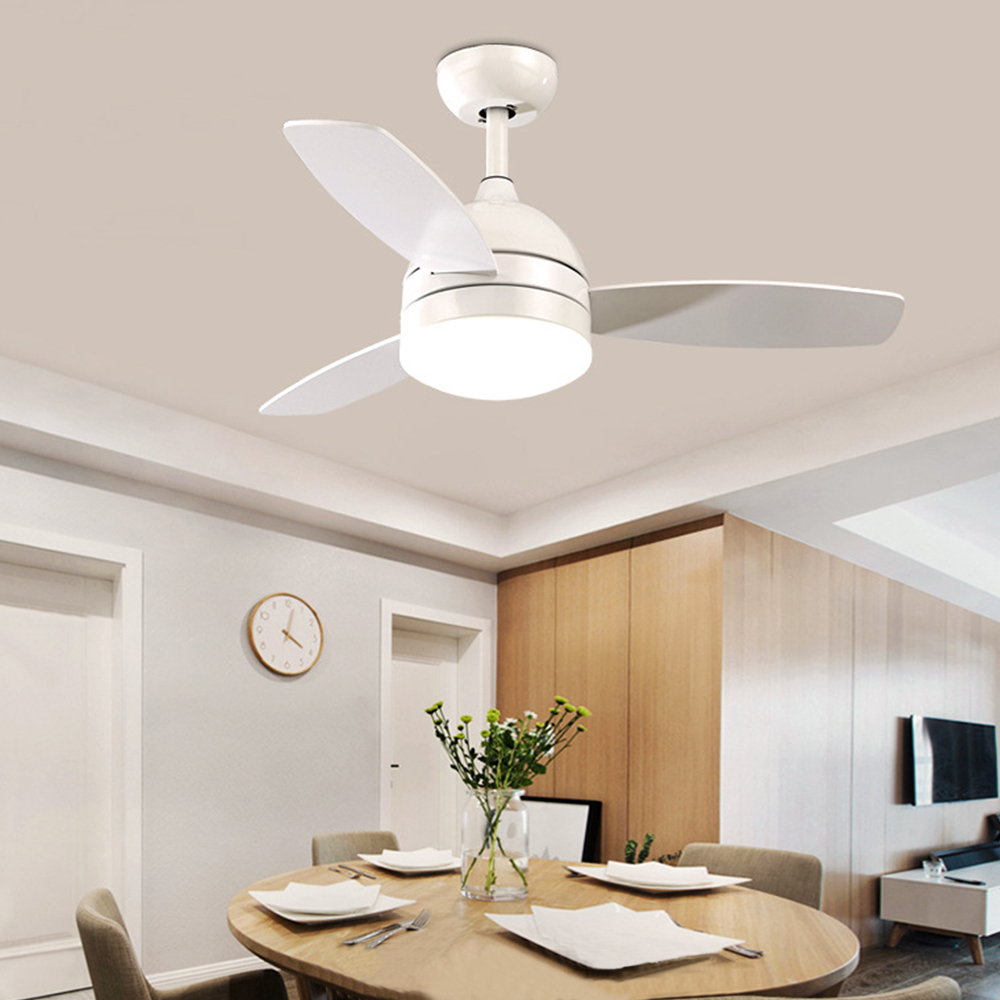 42 Inch Led Ceiling Fan Lamp Light Remote Control With Lights 18w Cooling Fans 220V AC Multi Color For Restaurant Kid's Room