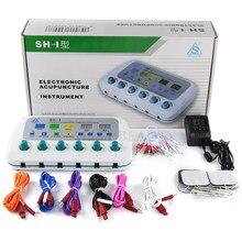 6 ช่องShunhe SH I Electroการฝังเข็มอิเล็กทรอนิกส์นวดคู่มือภาษาอังกฤษCE 110 240V
