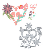 YaMinSanNiO Love Heart Flower Metal Cutting Dies For Scrapbooking Craft Embossing Stencil Die Cut Card Making New Cute