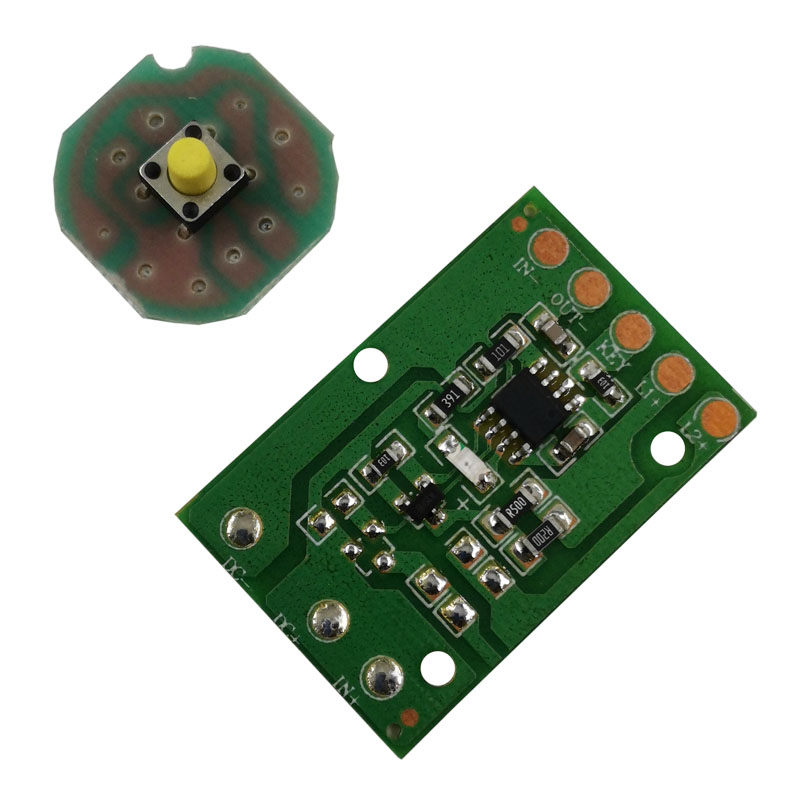JYL-8813 T6 / U2 / L2 Glare Light Control Circuit Board Flashlight Driver Board 3 Function 5 Function Gear Electric Plate