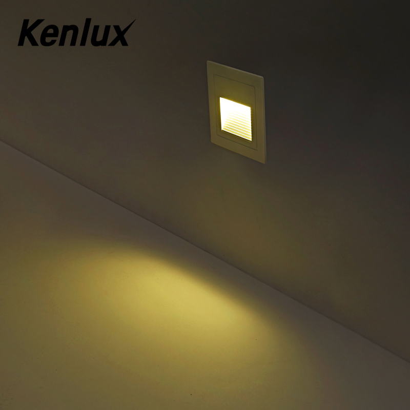 Recessed step lights 3W Led stair light square AC85-265V outdoor & indoor waterproof fashion wall corner lamp night lamp