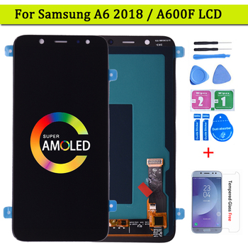 Super AMOLED For SAMSUNG Galaxy A6 2018 A600 A600F A600FN LCD Display with Touch Screen Digitizer Assembly