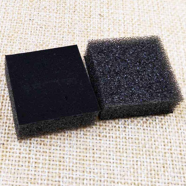 200pcs Jewelry Sponge Fit  For 40*40*25mm Ring Packing Box Black Jewelry Inside Sponge