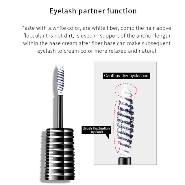 Pudaier Waterproo Mascara Makeup White Fiber Primer Lashes Base Foundation Eyelash Partner of Mascara Before Use Eyes Cosmetics 3