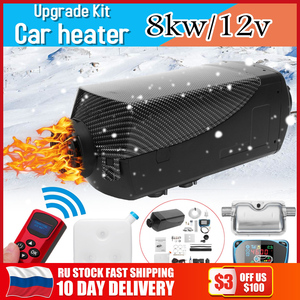 8000W Air diesels Heater 8KW 12V Car Heater For Trucks Motor-Homes Boats Bus +LCD Monitor Switch +Remote Control + Silencer(China)