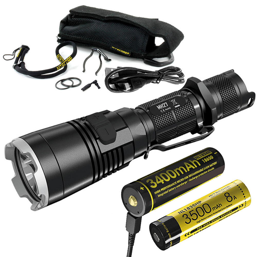Rescue Medical Police Nitecore MH27 Flashlight Hunting Tactical Military