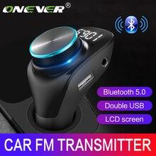 Fm-модулятор Onever автомобильный с поддержкой Bluetooth 5,0 и двумя USB-портами