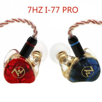 7HZ I-77 Dynamic Driver Custom Made HiFi Music Monitor DJ Studio In-Ear Earphone IEMs with Detachable MMCX Cable Earbuds