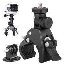 Black Bike Bicycle Motorcycle Handlebar Handle Clamp Bar Camera Mount Tripod Adapter Fit For Gopro Hero 1 2 3 3+ 4
