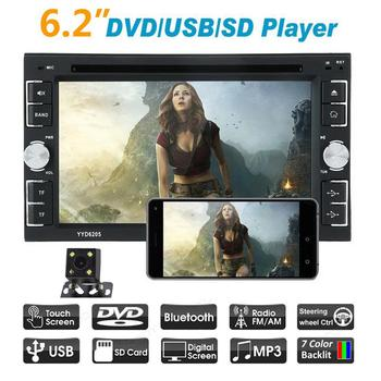 Universal 2 din Car Bluetooth Player Radio 2din Android  with Rear View Camera 6.2 Touch Screen Video MP5 DVD