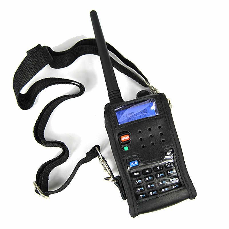 Étui en cuir Portable housse de sac pochette noire pour talkie-walkie Baofeng CB Radio UV-5R UV-5RA UV-5RE Plus UV5R UV-5RB TYT TH-F8
