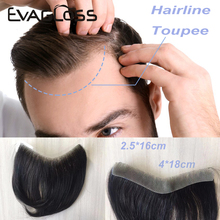 Для мужчин накладки из искусственных волос тонком каблуке из искусственной кожи; Европейские V петли спереди системы замещения волос Для му...