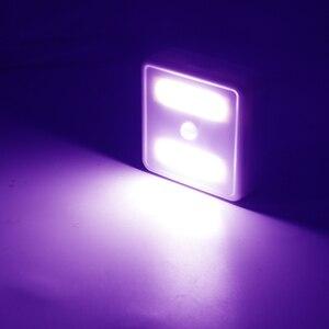Image 2 - WAKYME LED Motion Sensor Night Light Cabinet Light Cupboard Wardrobe Bedroom Lamp UV Sterilizer Disinfection Lights UVC Lamp