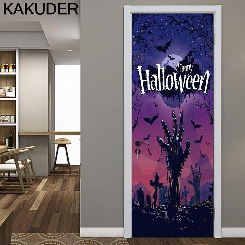 KAKUDER Wall Stickers Halloween Haunted House Decor Window Door Cover Specter Hand Sticker Home Decor Accessories Stickers 38AUG