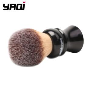 Image 2 - Yaqi pincel de barbear sintético com punho preto, 24mm, amarelo, cabelo sintético, molhado