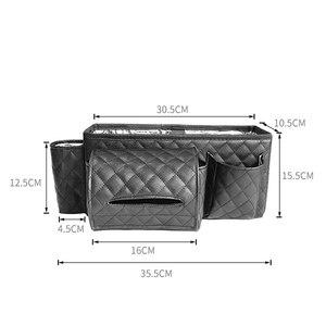 Image 5 - Car Back Seat Organizer Bag Multi Pocket Hanging Pouch Leather Storage Bag
