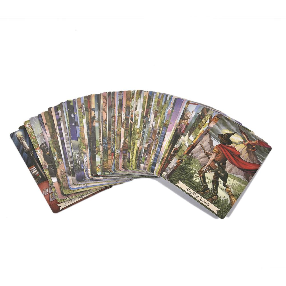 78 Pcs Sheets Cards Board Game Everyday Witch Tarot Cards Playing Card For Family Party Deck Card Games Entertainment