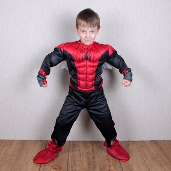 kids Spider Suit Children Spider-boy Cosplay Costume Far From Home Superhero Muscle Kids Halloween dress up adult kids spider far from home peter parker cosplay costume zentai spider superhero bodysuit suit jumpsuits