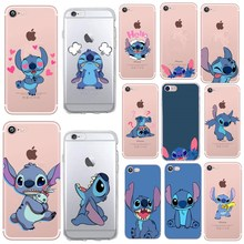 Cute Cartoon Stitch Phone Case For iPhone 6 6S 7 8 Plus 5 5S SE X XS Case Silicone Soft TPU Back Cover For iPhone 7 plus Cases цена и фото