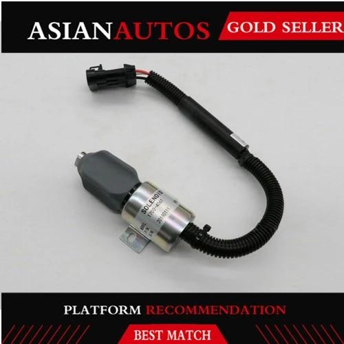 Friday Part Fuel shut off Solenoid Valve 12V 1753ES 1700-4061 for Takeuchi TL140