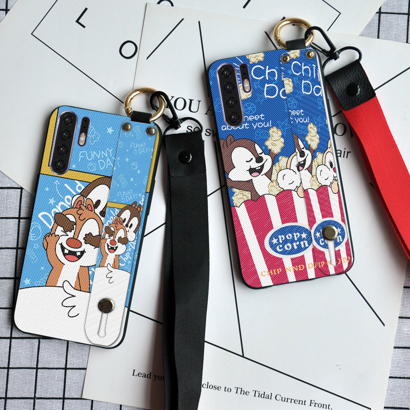 Luxury Lanyard Phone Cases For <font><b>Huawei</b></font> P Smart Z P20 Lite P30 Pro Y5 Y6 <font><b>Y7</b></font> Y9 <font><b>Prime</b></font> <font><b>2019</b></font> Ring Holder Cute Rabbit <font><b>Back</b></font> <font><b>Cover</b></font> image
