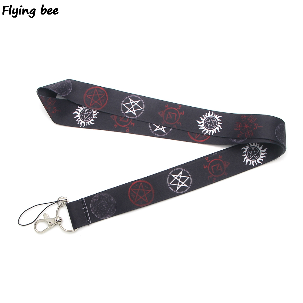 Flyingbee Supernatural Cool Lanyard Keychain Keys Holder Women Strap Neck Lanyards For Keys ID Card Phone Lanyard X0374