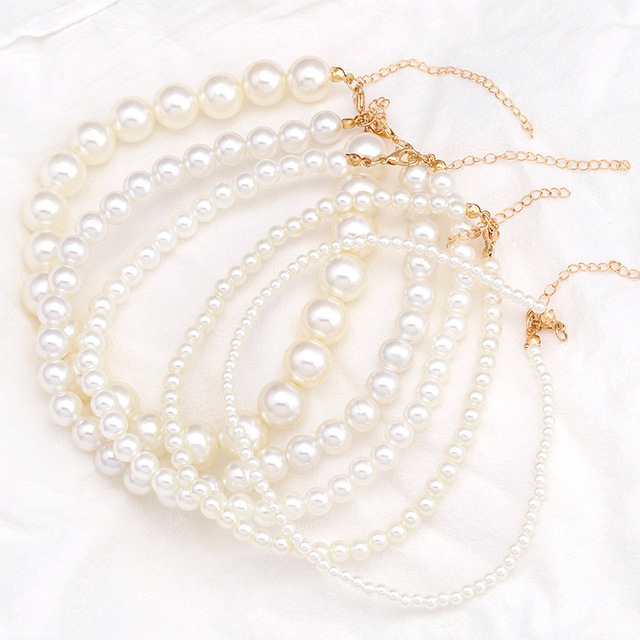 elegant pearl charm necklace 5