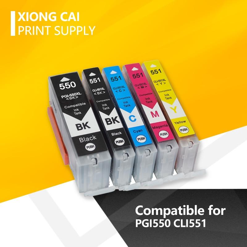 10 шт. PGI550 чернильный картридж для Canon PGI 550 CLI 551 PIXMA IP7250 MG5450 MX925 MG5550 MG6450 MG5650 MG6650 MX725 принтер PGI-550