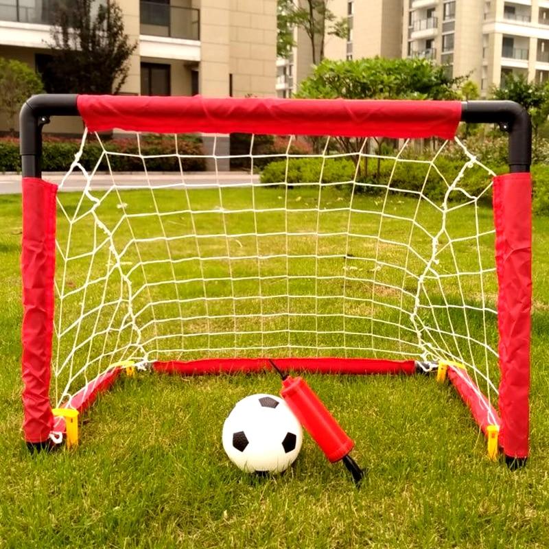 WISHOME Kids Soccer Goal Set Mini Football Goal Indoor Family Game Square Soccer Goal Net For Backyard Futbol Gate Garden Toy