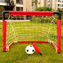 WISHOME Kids Soccer Goal Set Mini Football Indoor Family Game Square Net for Backyard Futbol Gate Garden Toy