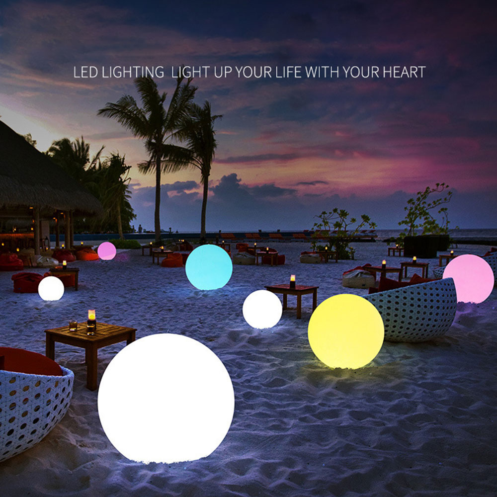 Glowing Ball Funny Inflatable Luminous Ball PVC Remote Control LED Ball Decorative Beach Ball For Outdoor Swimming Pool Outside