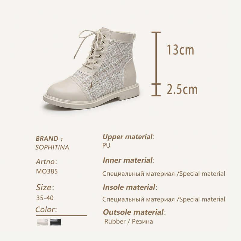 SOPHITINA SỌC LƯỚI Giày Thoải Mái Mũi Tròn Chắc Chắn Gót Vuông Dây Đeo Chéo Ấm Sang Trọng Giày nữ Mới Giày MO385