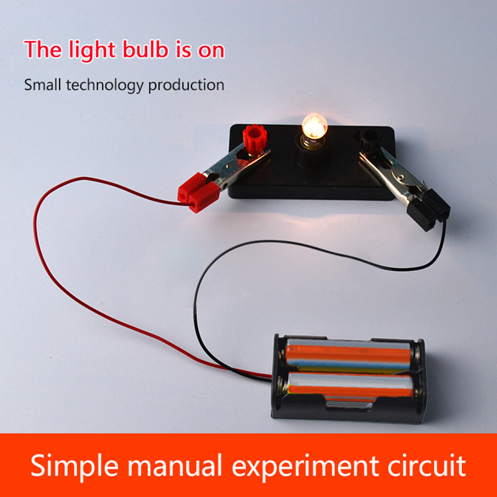 Children Science Toy Kit Kids School Electric Circuit Educational Toys Light Bulb Discovery Intelligence Develop Preschool Gift