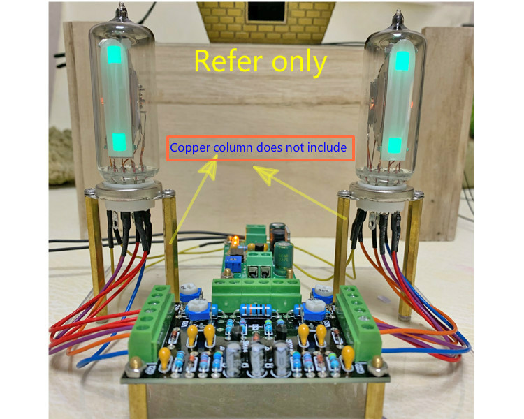 Dual Channel Low Voltage 6E2 Tube Indicator Driver Kits Board Level Indicator Amplifier DIY Audio Fluorescent DC12V