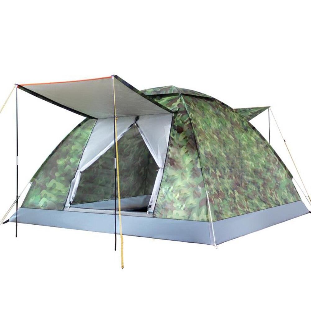 4 pessoa ao ar livre tendas automaticas de acampamento a prova dwaterproof agua portatil dobravel barracas
