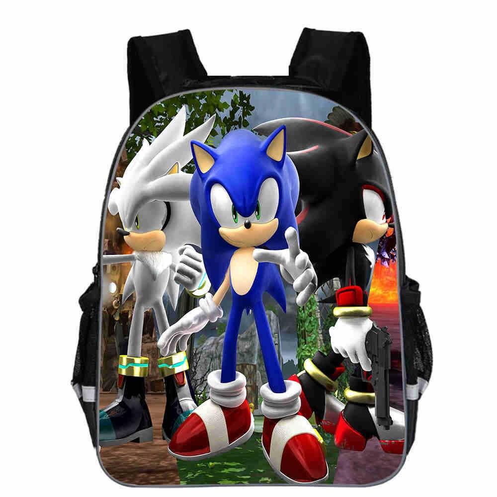 New Arrivals Printing 3D Cartoon Sonic Backpack Children School Bags For Kids Baby Kindergarten Bag Boys Girls Mochila Best Gift