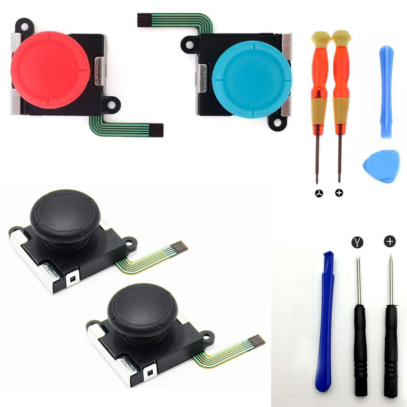 3D Analog Joystick thumb Stick grip Cap Button Key Module Control Repair Part for Nintend Switch Lite NS Mini Joy-Con Controller