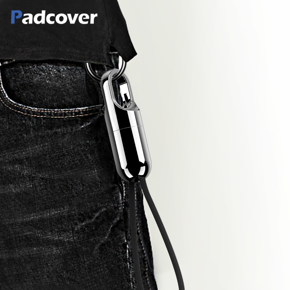 PADCOVER for IPhone X 8 7 6 6s Plus Cable Fast Charger for iPad Air USB Charging Cord Hidden Keychain Design Mobile Phone Cable-in Mobile Phone Cables from Cellphones & Telecommunications on AliExpress