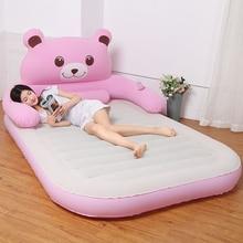 Colchão inflável engrossado casa dobrável cama de casal dos desenhos animados cama de almofada inflável totoro cama chão cama do meio-dia cama simples