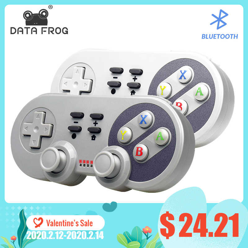 Data Kikker Draadloze Bluetooth Controller Voor Ns Afstandsbediening Trillingen Gamepad Voor Nintend Switch Console Joystick Voor Pc/Android/ PS3