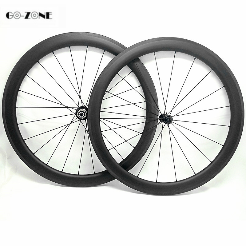 Carbon road wheels 50x25mm Clincher or Tubular bike wheelset 700c novatec A291SB F482SB 100x9 130x9 roue carbone pour velo route(China)