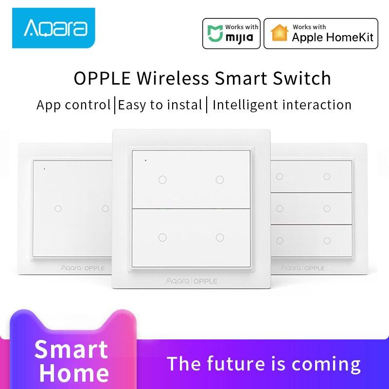 Aqara OPPLE Wireless Smart Switch For Xiaomi Mijia Smart Home ZigBee 3.0  Wireless Wall Switch Work With Mijia HomeKit APP