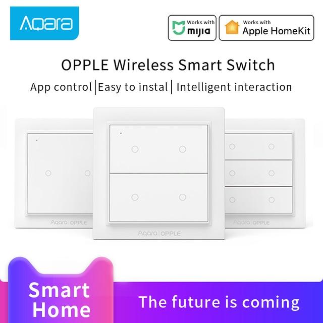 Aqara OPPLE Wireless Switch for Xiaomi Mijia Smart Home ZigBee 3.0  Wireless light Switch Work With Mijia HomeKit APP