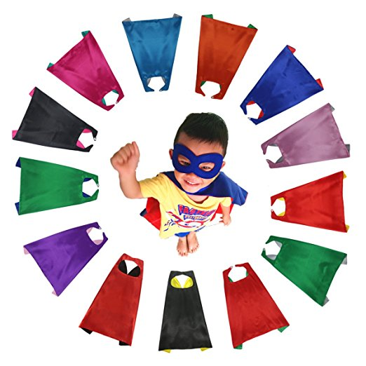 Super hero cloak mask Birthday party boys and girls cloakNew arrival: DIY capes with masks(China)