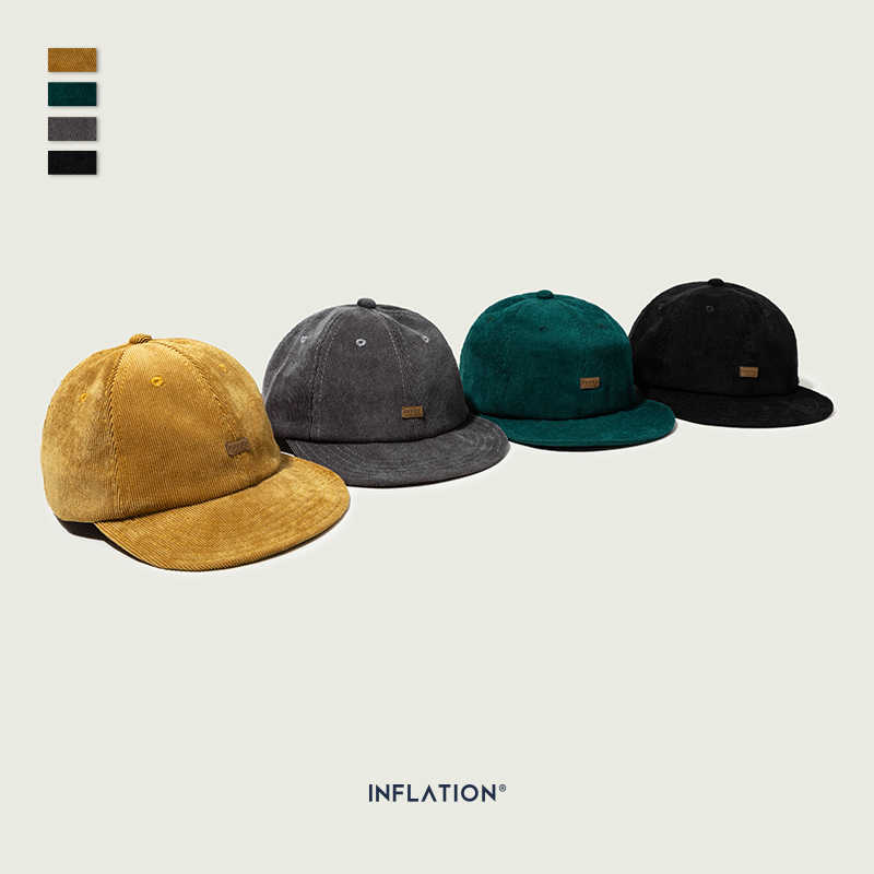 INFLATION Unisex Soft Suede Baseball Cap Casual Solid Color Sports Hat Adjustable Breathable Snapback For Women & Men 171CI2019