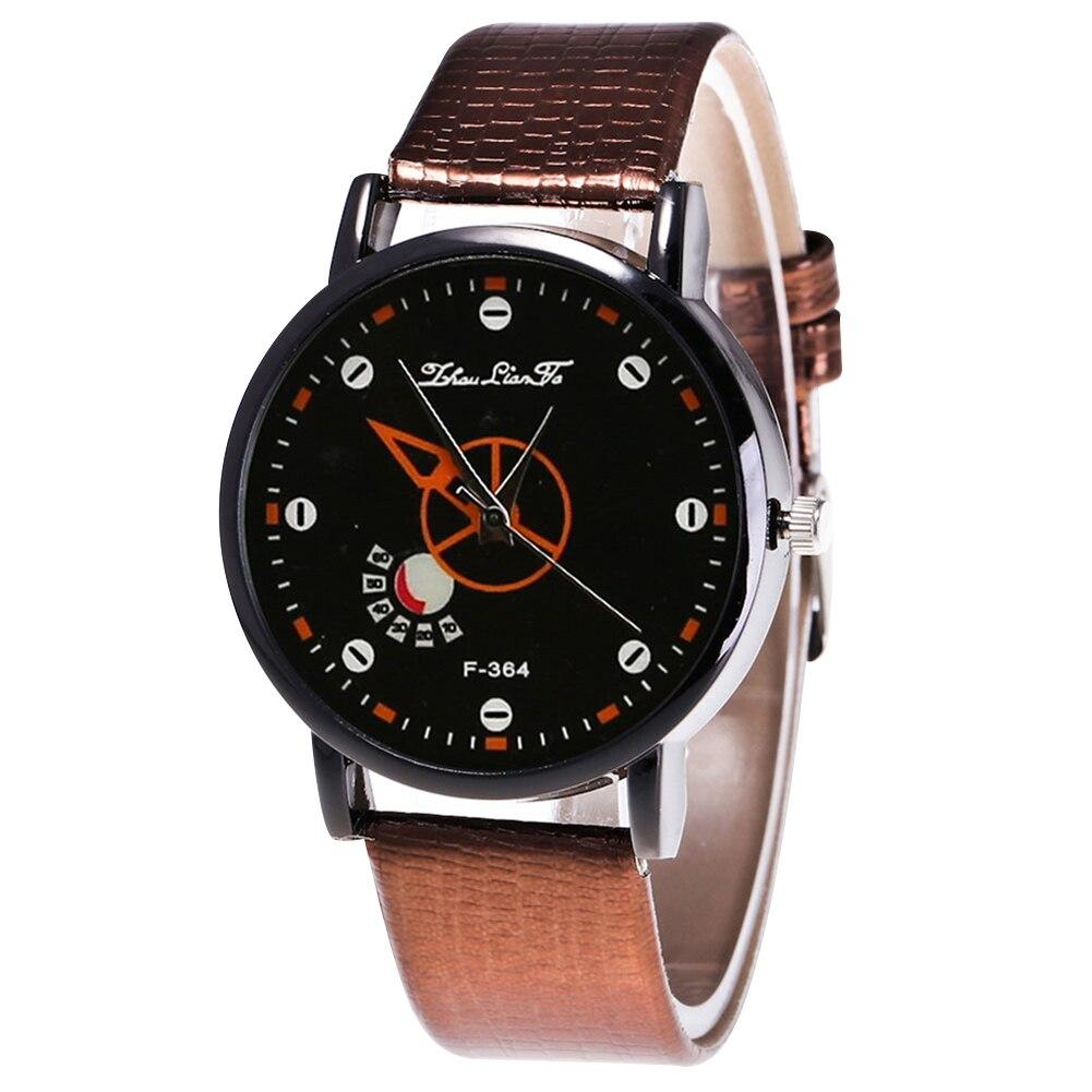 Fashion Quartz Watch Men Women Couple Electronic Watch Geometric With PU Wrist Strap LL@17