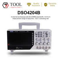 Hantek DSO4204B/4104B Digital Storage Oscilloscope 4CH 200 MHz bandwidth 7inch DSO4202B 1GSa/s Record Length 64K In Stock