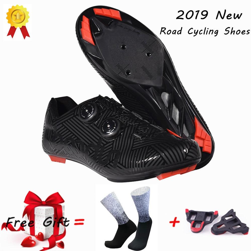 Bicicleta de Estrada Resistente ao Desgaste Esportes ao ar Sapatos de Bicicleta Nova Ciclismo Sapatos Ultraleve Anti-skid Profissão Auto-bloqueio Livre 2019