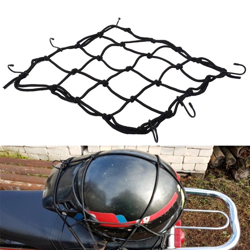 30x30cm Cargo Net Motorbike Helmet Mesh Storage Motorcycle Helmet Bungee Luggage Hold Down Storage Cargo Organiser Net