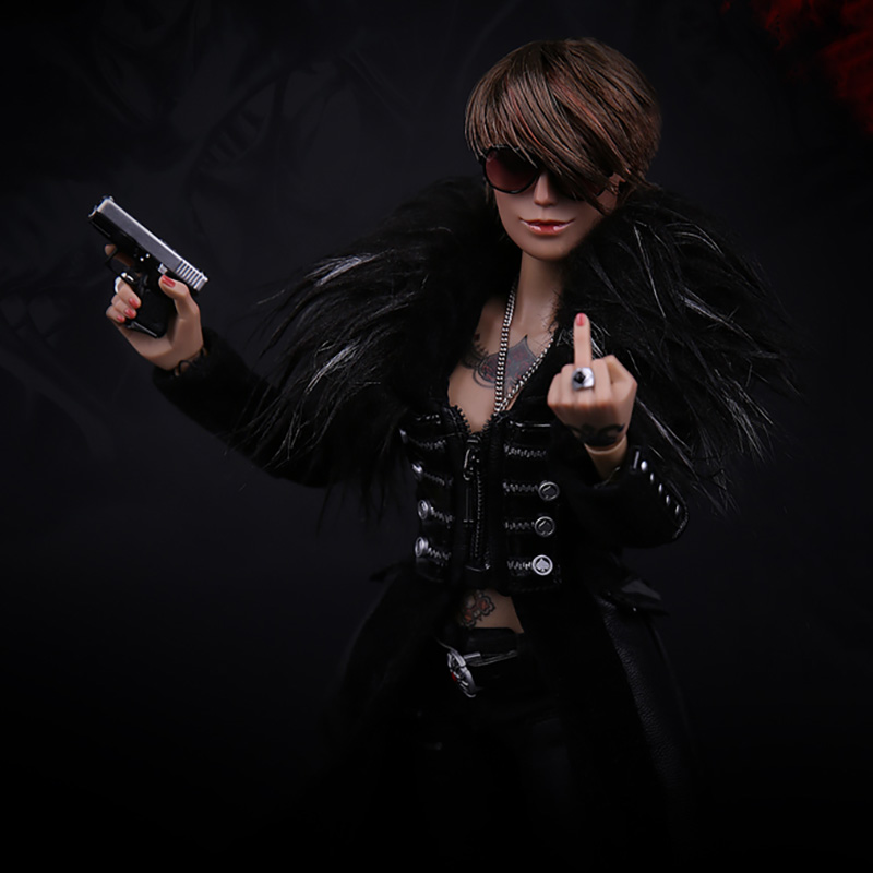 1/6 Scale GK008 Ada US Machete <font><b>Gangster</b></font> <font><b>Kingdom</b></font> Spade 6 Women Bully Clothes Female Clothing For 12
